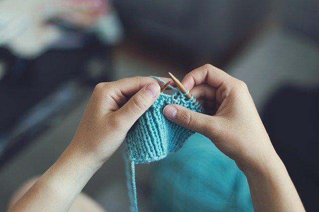 pletení šály